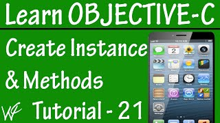 Free Objective C Programming Tutorial for Beginners 21 - Instance Variable Access and Methods