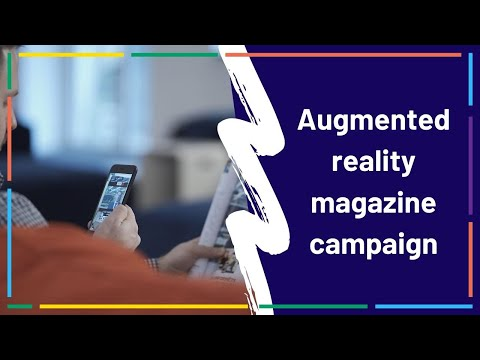 Augmented reality business magazine campaign | AR print example Overly app
