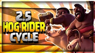 INSANE 2.5 SUPER FAST CYCLE HOG RIDER DECK!! Arena 8 to 11 No Legendary Card - Clash Royale Strategy