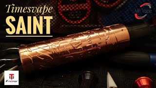 Timesvape Saint Mech Mod - 21700/20700/18650 - Review by MF Vape