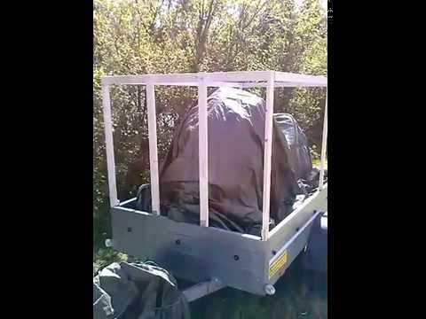 Tylko na zewnątrz Jak zrobić tanio Stelaż z plandeką do przyczepy część 1 - YouTube YA72