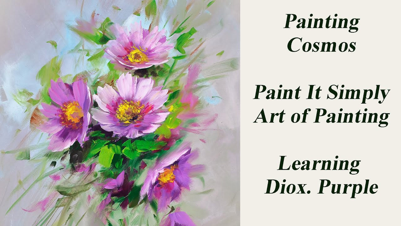 Painting Cosmos With Diox Purple Youtube