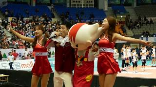 171105 배구 한국전력 vs 우리카드, 응원 연습