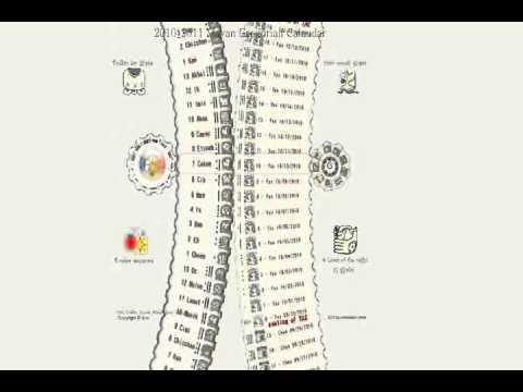 Find Color Code >> Mayan calendar: haab, tzolkin, 9 lords, color code, Gregorian data - YouTube