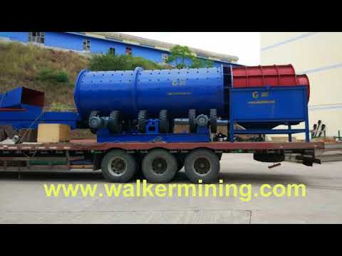 Trommel Scrubber in Guyana alluvial gold mining plant