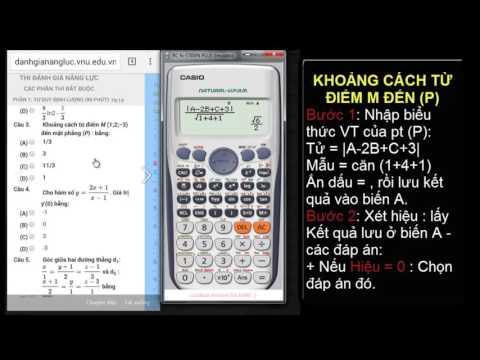 Sử dụng casio FX570 để giải toán trắc nghiệm THPT (Phần 1) câu 2-5