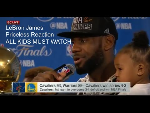 Lebron James Priceless Reaction ALL KIDS MUST WATCH!!