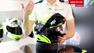agv compact flip front motorbike helmet