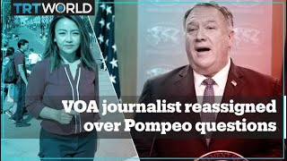 VOA reassigns White House correspondent after questioning Pompeo