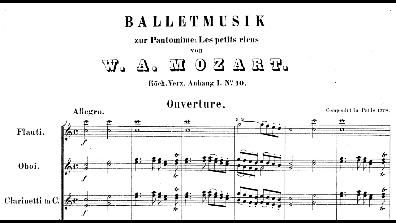 Ballet music for opera: Idomeneo, K367 - Full Score