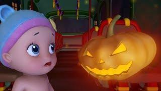 Wheels on the Bus Halloween Song | Rhymes for Children | Infobells