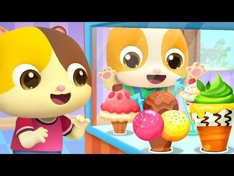 Little Babies in Ice Cream Shop  Learn Colors Fruits Names  Nursery Rhymes  Kids Songs  BabyBus