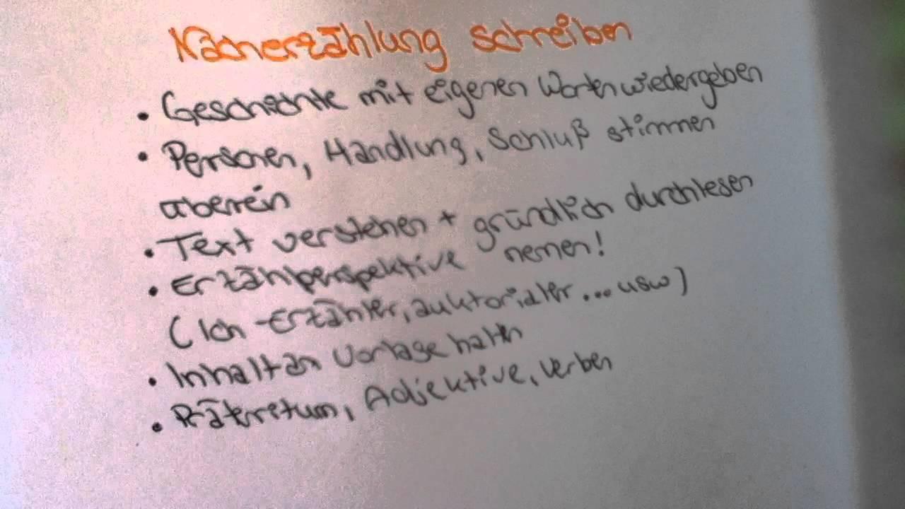 nacherzhlung schreiben was ist und wie schreibt man eine nacherzhlung - Erlebniserzahlung 6 Klasse Gymnasium Beispiele