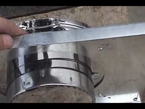 Wood Stove Through Wall Chimney Pipe Installation Howto ...