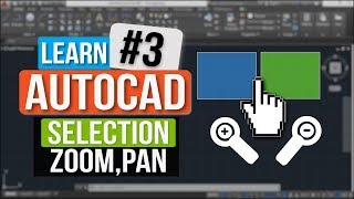 Selection Tool || Zoom Tool || Pan Tool || Autocad Tutorial In Hindi