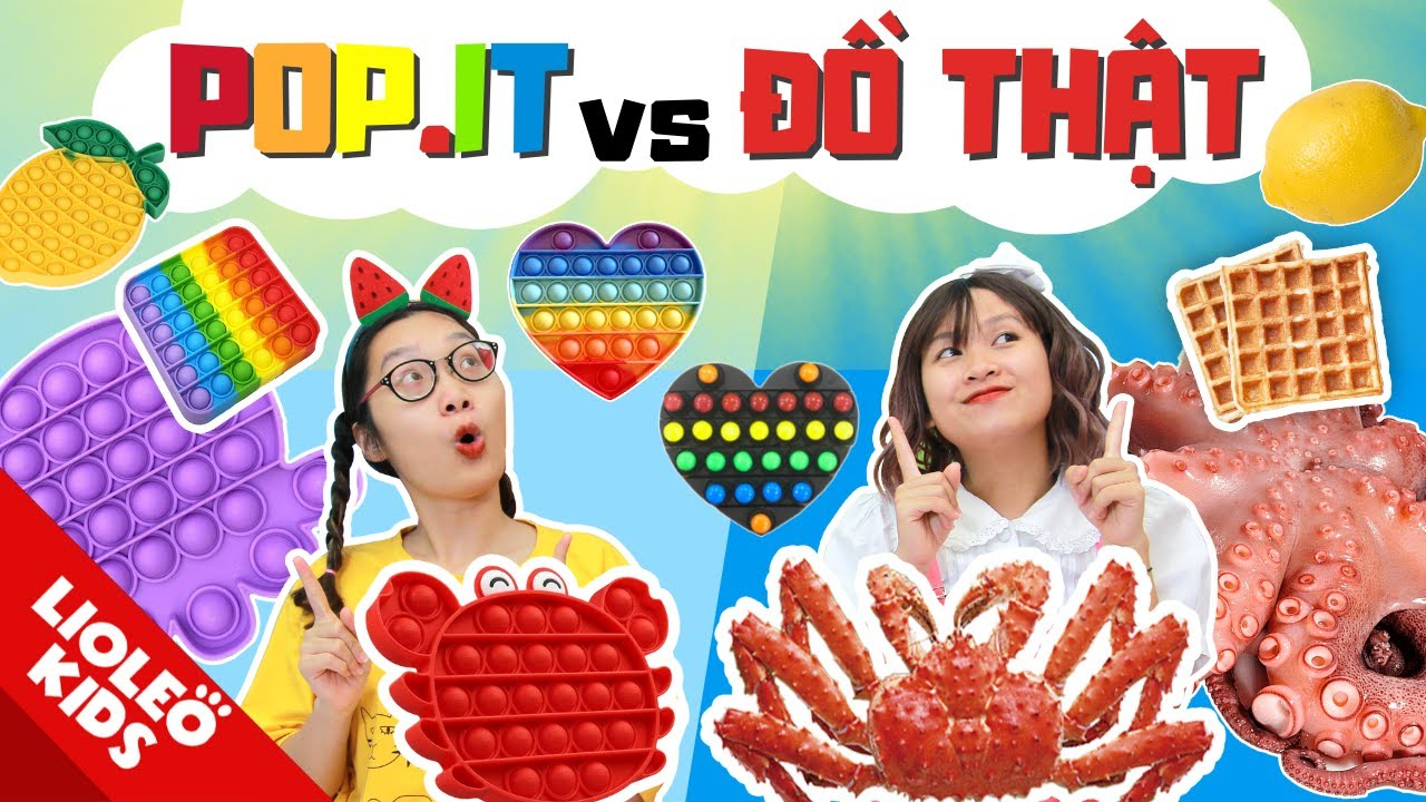 Download POP IT vs ĐỒ THẬT | Lần đầu được ăn CUA KHỔNG LỒ !!
