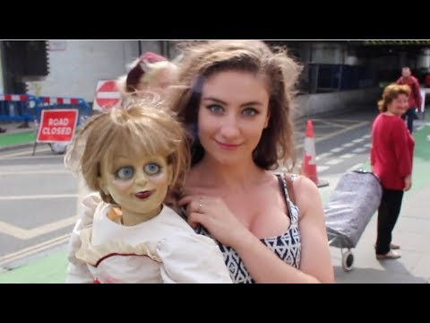 SCARING THE PUBLIC WITH ANNABELLE!