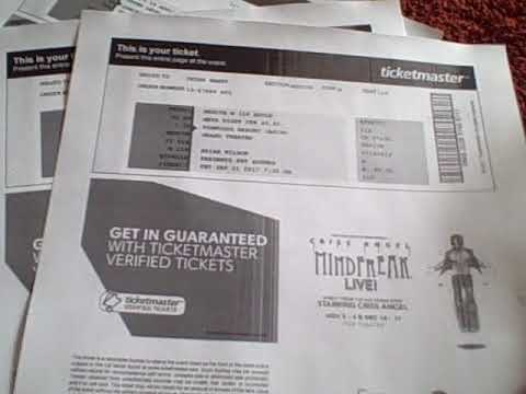 Printing tix to awesome concerts Printer ASMR techno-noise ;-) - YouTube - printable ticket paper