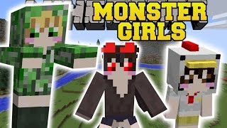 Minecraft: MONSTER GIRLS MOD (A WORLD OF GIRLS!) Mod Showcase