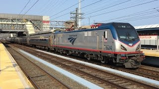Amtrak HD 60fps: Siemens ACS-64 AC Traction Motor Start Up Sound (624 Depart Stamford w/ Train 135)