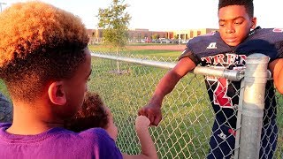 JADEON'S MIDDLE SCHOOL FOOTBALL GAME | FAMILY VLOGS