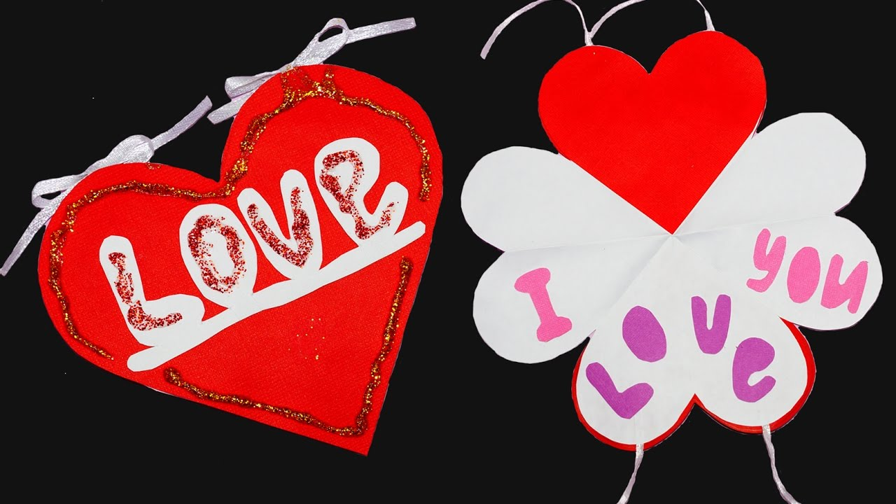 DIY Love Heart Greeting Card How To Make Valentines Day Paper Craft Julia