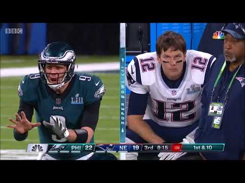 Only Actual Gameplay - Super Bowl LII - Philadelphia Eagles vs  New England Patriots