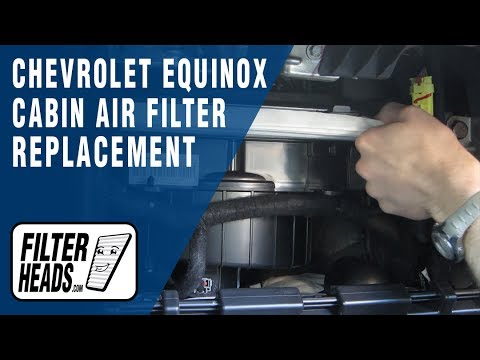 How to replace cabin air filter 2014 chevrolet equinox for What size cabin air filter do i need