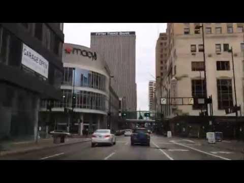 Driving into Downtown - Cincinnati Ohio