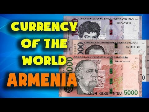 Currency Of The World - Armenia. Armenian Dram. Armenian Banknotes And Armenian Coins