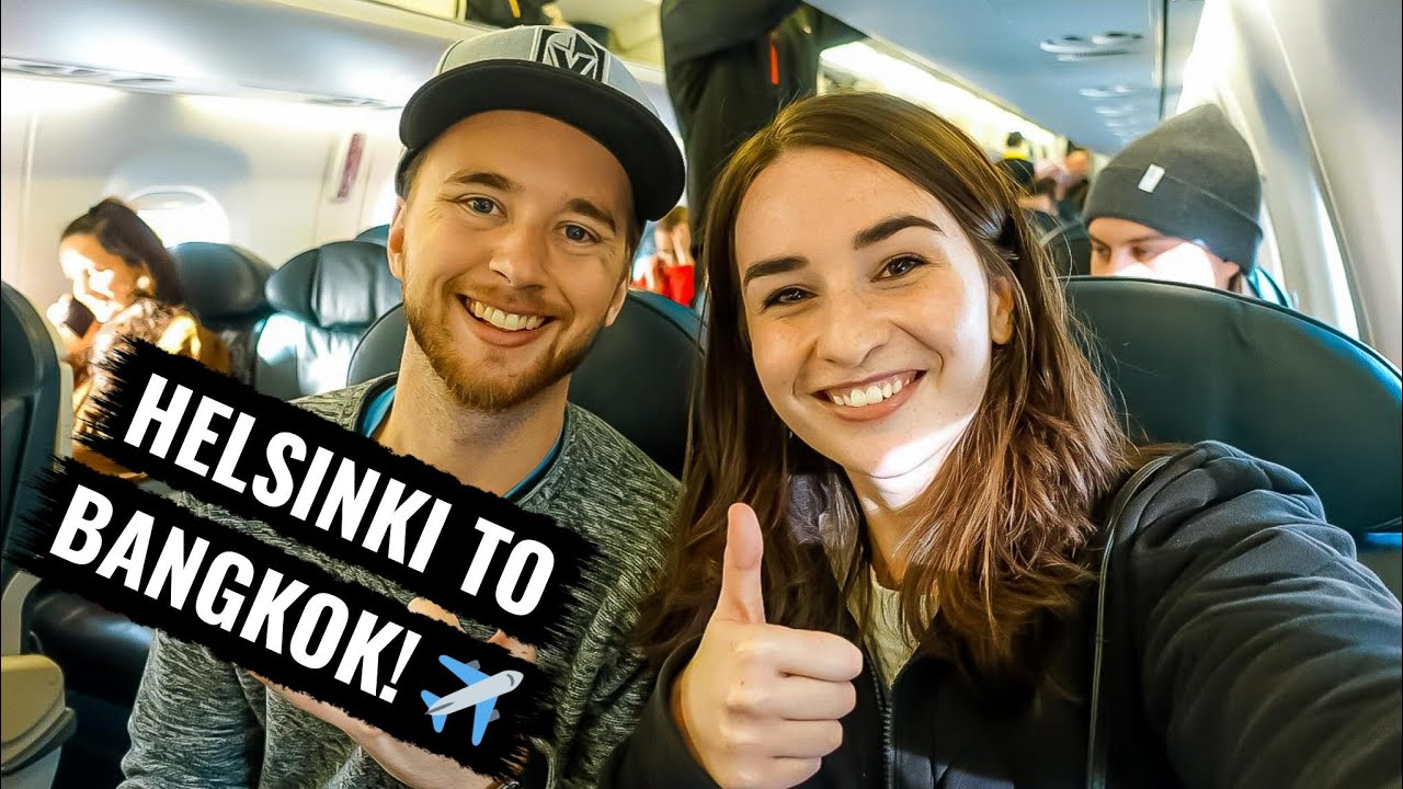 Flying from HELSINKI TO BANGKOK (our first time in ASIA!)