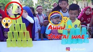 17 agustusan lucu | Cup Stacking Challenge Kid Toys Lifia Niala 🔔Mainan anak unik lucu
