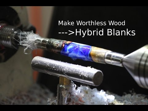 Making A Hybrid Or Worthless Wood Blanks With Alumilite And Stabilized Wood.