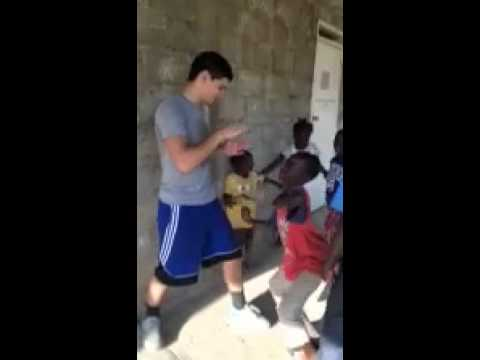 Look At The Excitement Arturo Marquez Teaching Boxing in Haiti  esnews boxing