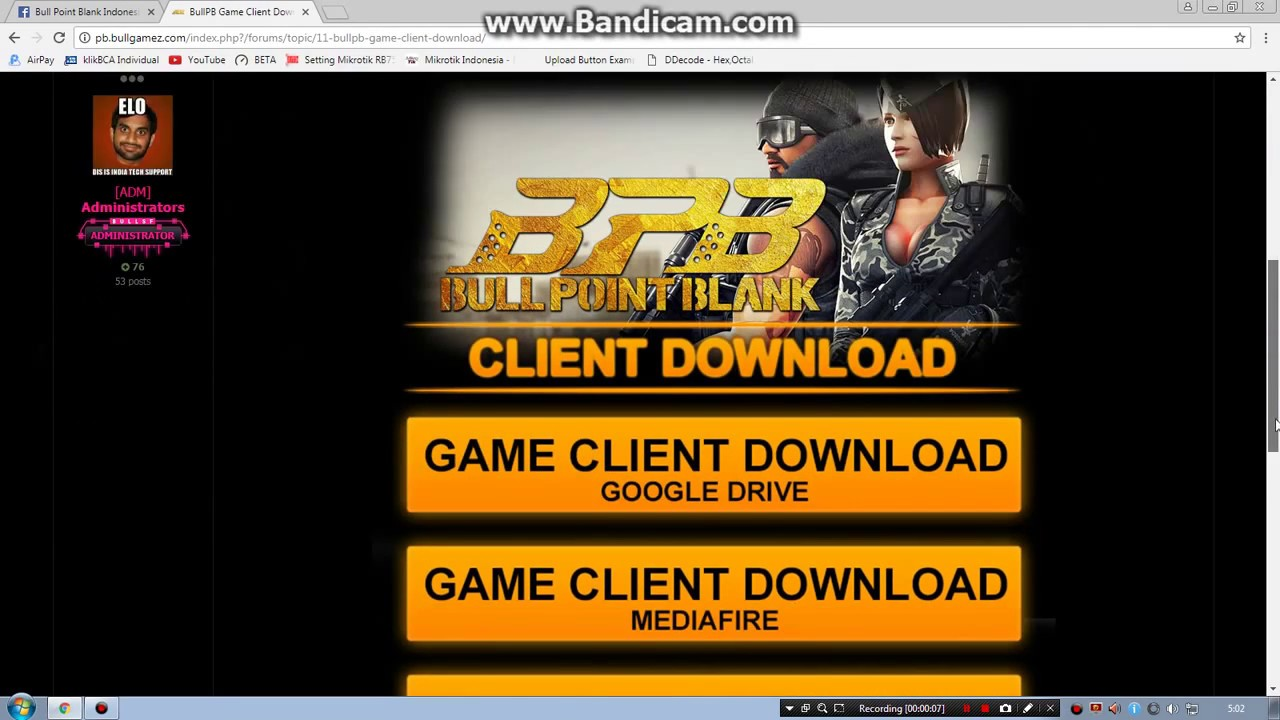 Bull Point Blank Cara Download