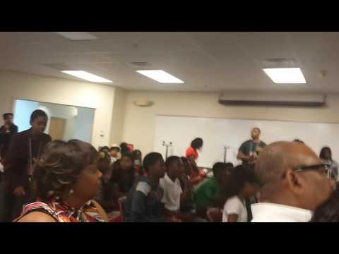 Xman receiving award at Imhotep Academy Algebra & Toxicology Summer Camp At NC State