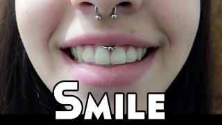 Smile piercing  - captive no smile