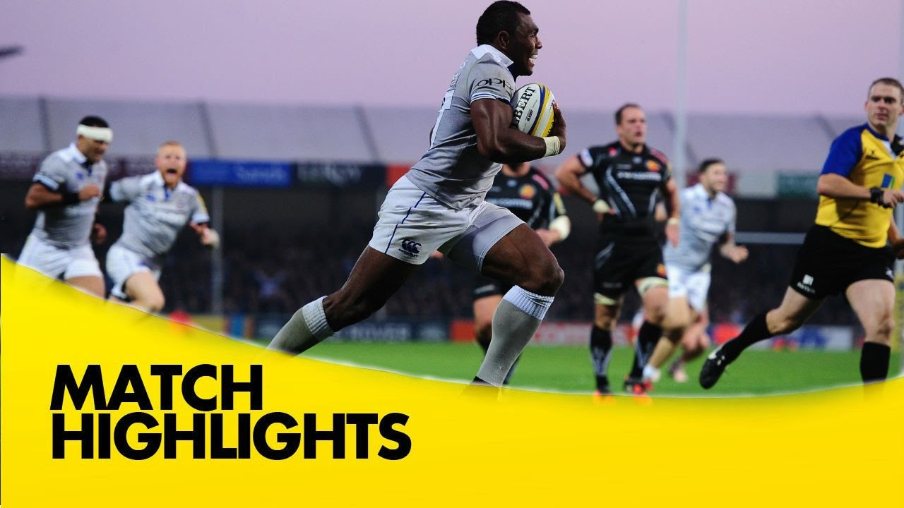 Exeter Chiefs V Bath Rugby Aviva Premiership Rugby 2016 17 Youtube