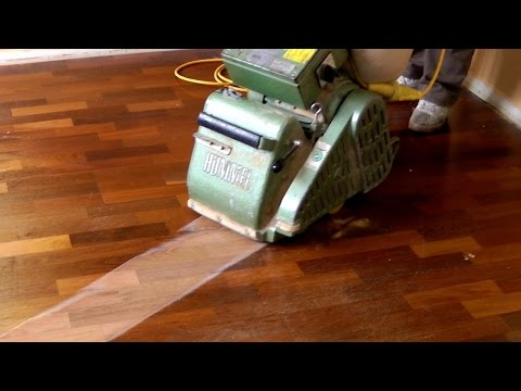 Sanding And Refinishing Hardwood Floors Step By Step Youtube