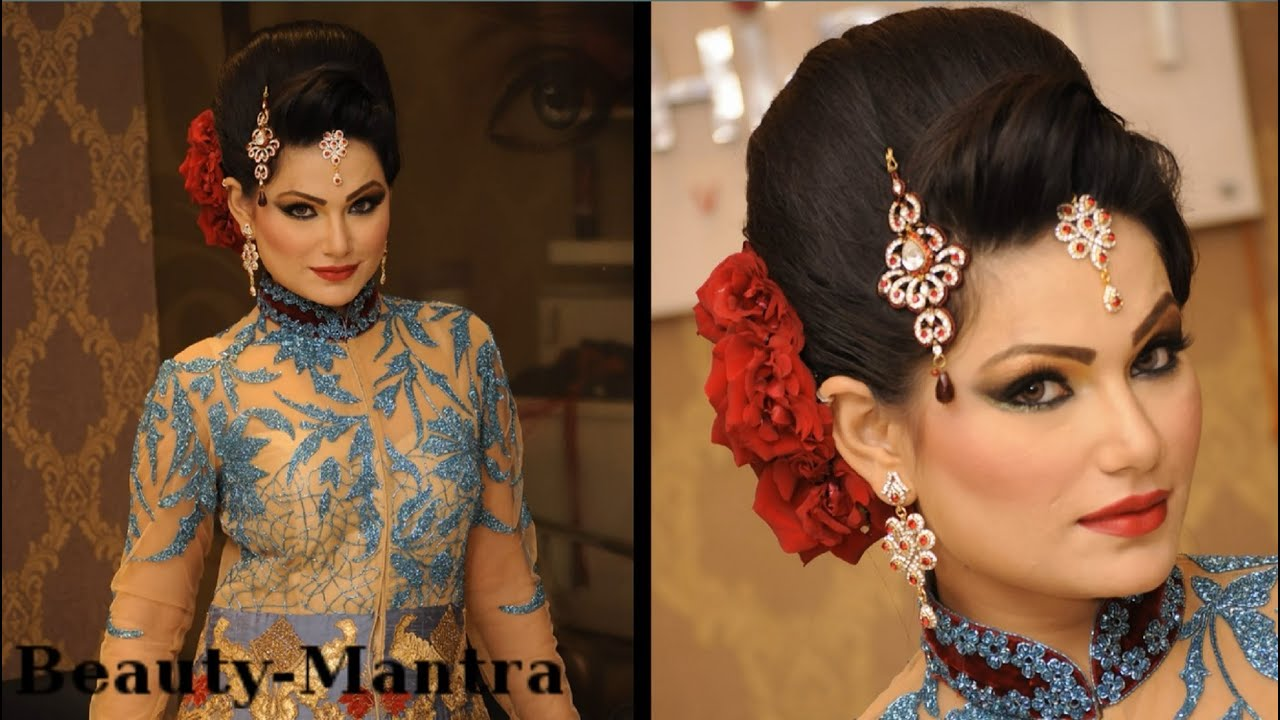 wedding makeup - royal engagement look - complete hairstyle and