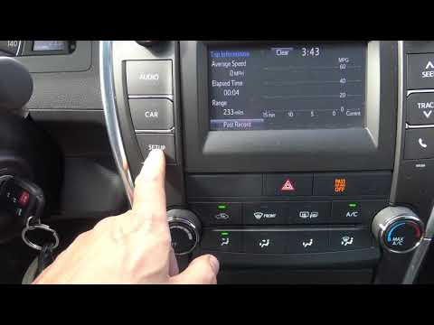 How works Toyota Camry internal instruments. Years 2013 to 2018