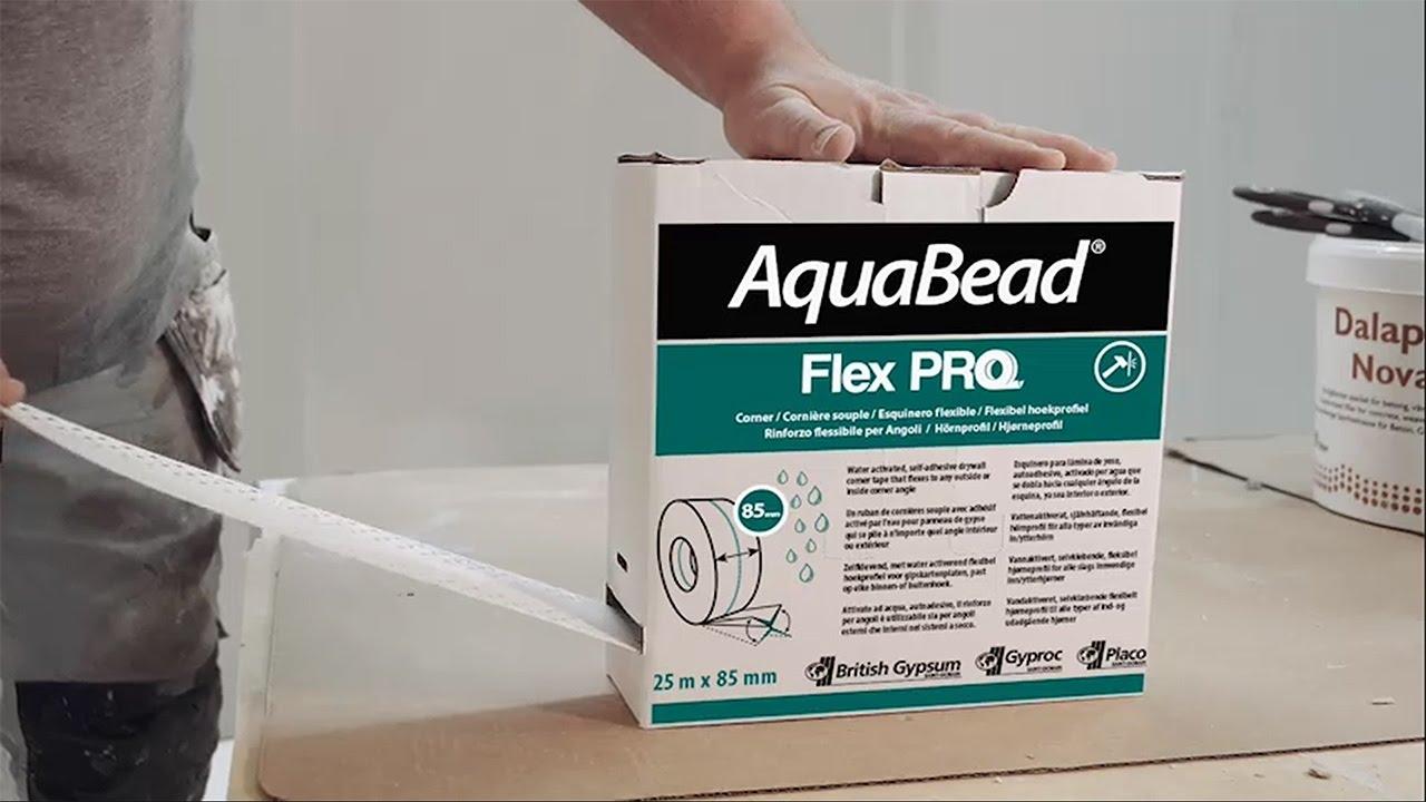 gyproc aquabead flex pro kulmalistarulla youtube. Black Bedroom Furniture Sets. Home Design Ideas