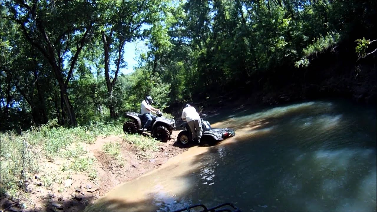 Atv Trail Ride In Camp Gruber Ok Youtube