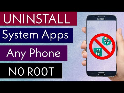 How To Uninstall System Apps Without Root In Any Phone - 2020