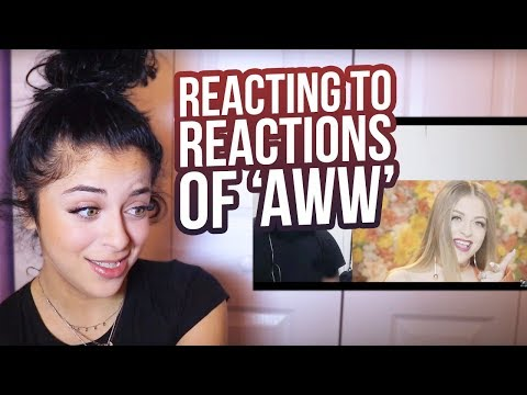 "REACTING TO YOUR ""AWW"" REACTIONS thumbnail"