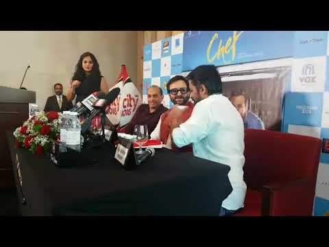Saif Ali Khan talks about his upcoming film Chef during a press conference in Dubai