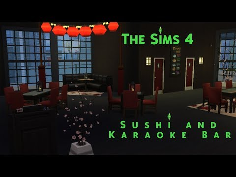 The Sims 4 | Speed Build: SUSHI AND KARAOKE BAR!