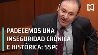 Crisis de inseguridad en Mexico Alfonso Durazo - A las Tres