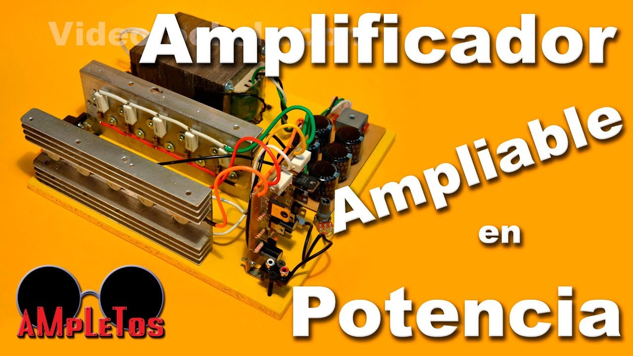 Amplificador De 300w Ampliable En Potencia Hasta 1500w Youtube Stk Audio Ic 60w