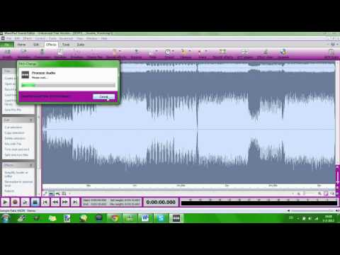 how the download wavepad sound editor and how to pitch a song with it
